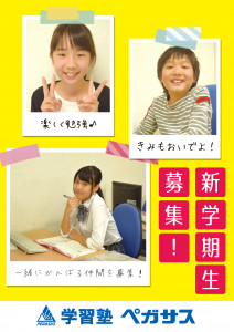 新学期生募集(2次利用不可 写真を他の印刷・広告物に転載できません)生徒モデルポスター023